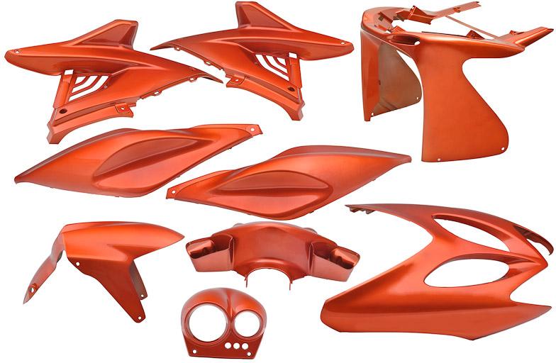 Plaatset Yamaha Aerox tot bj. 2014 9 delig oranje