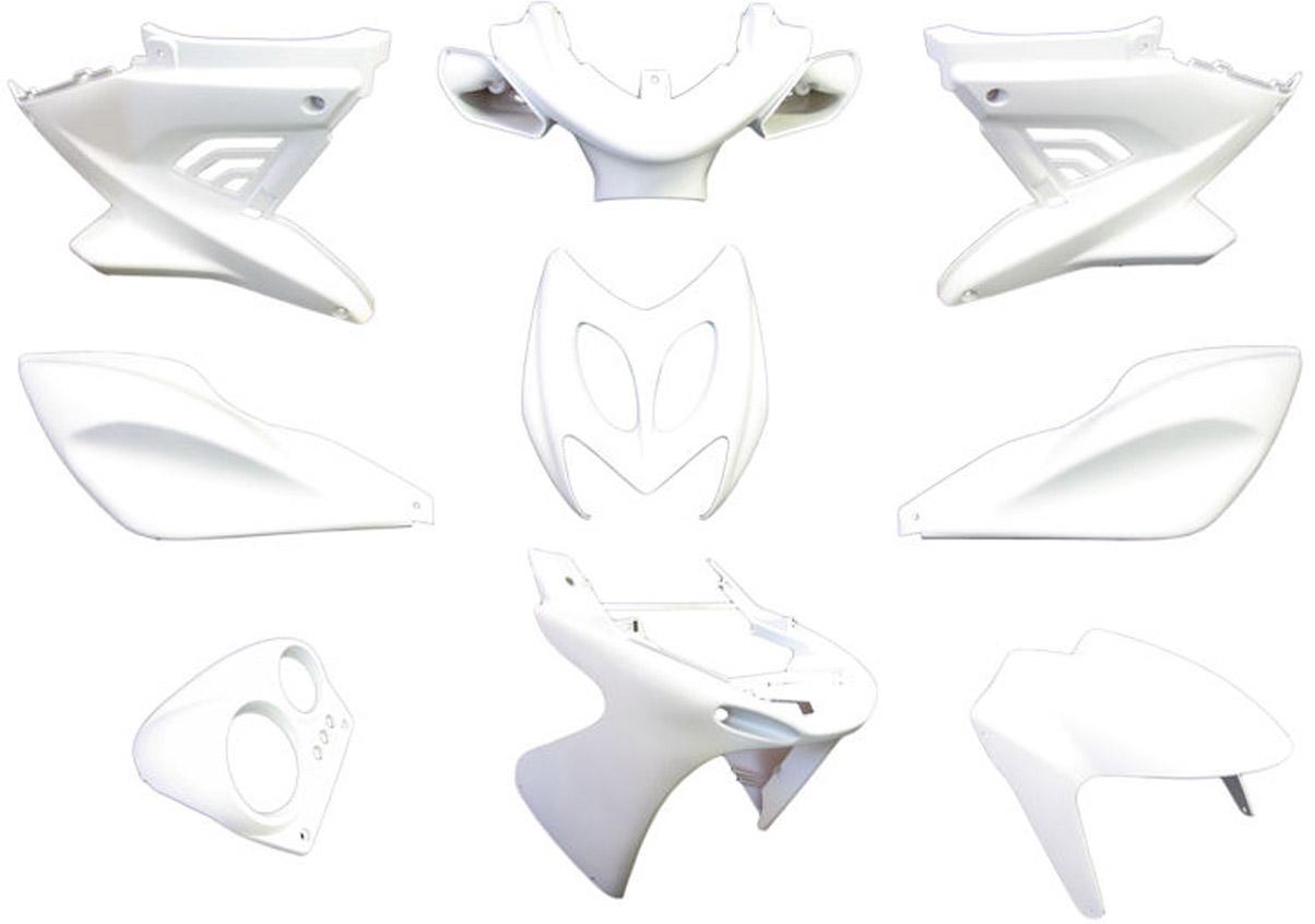 Plaatset Yamaha Aerox tot bj. 2014 9 delig mat wit