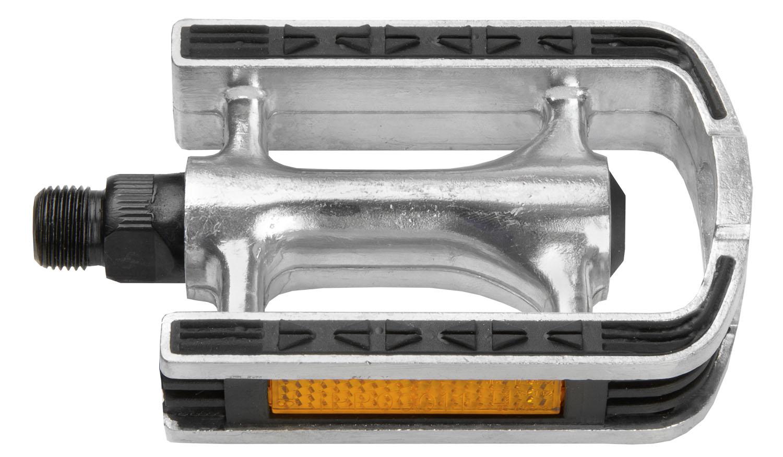 Pedalen Alu-Zilver met rubberen anti-sliplaag