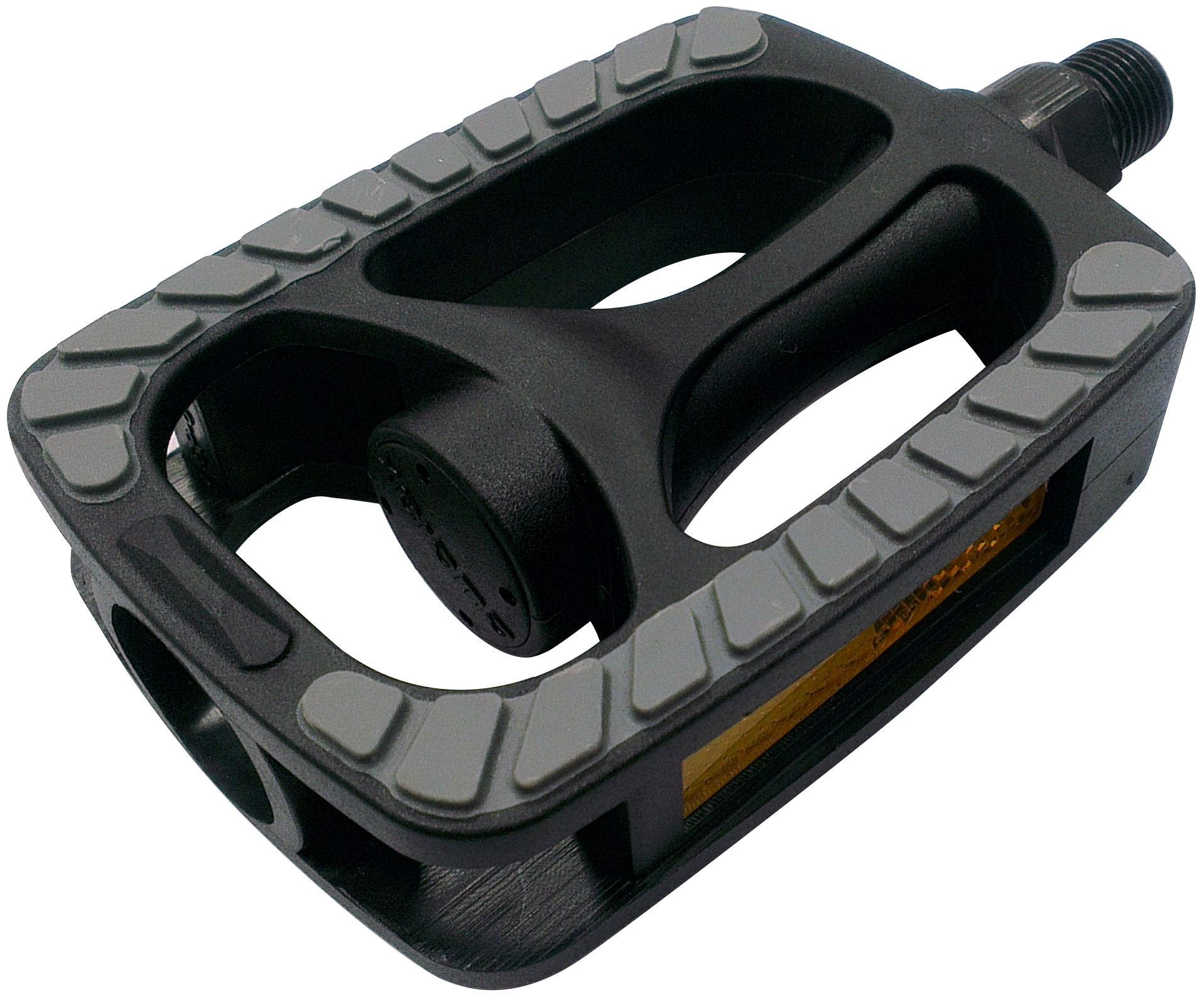 Pedalen Anti-Slip Zwart met grijze non-slip inlay