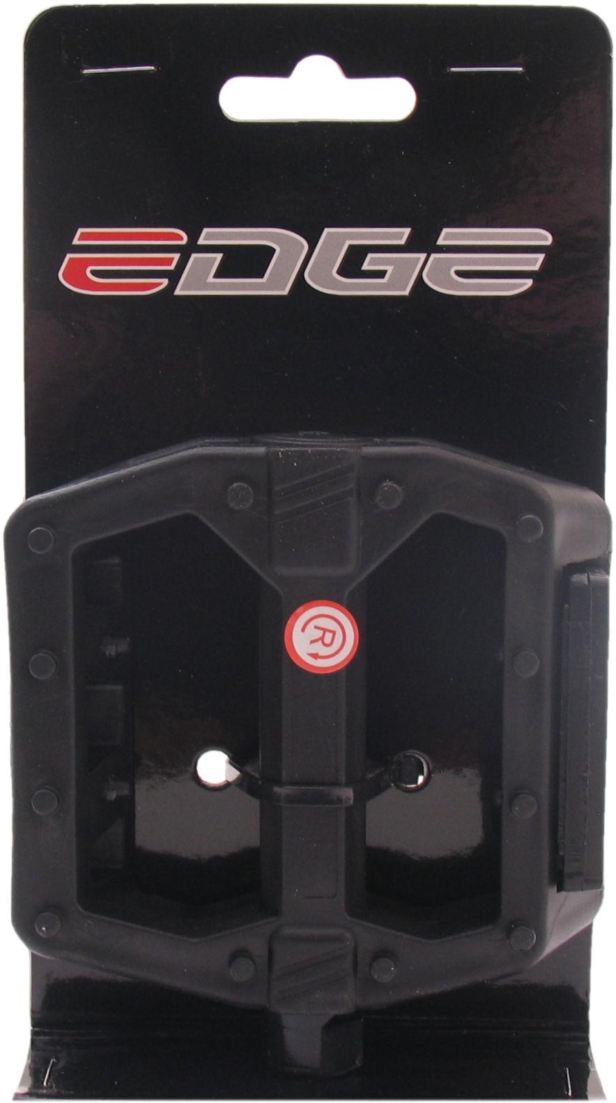 Fietspedalen Edge BMX breed - kunststof - zwart