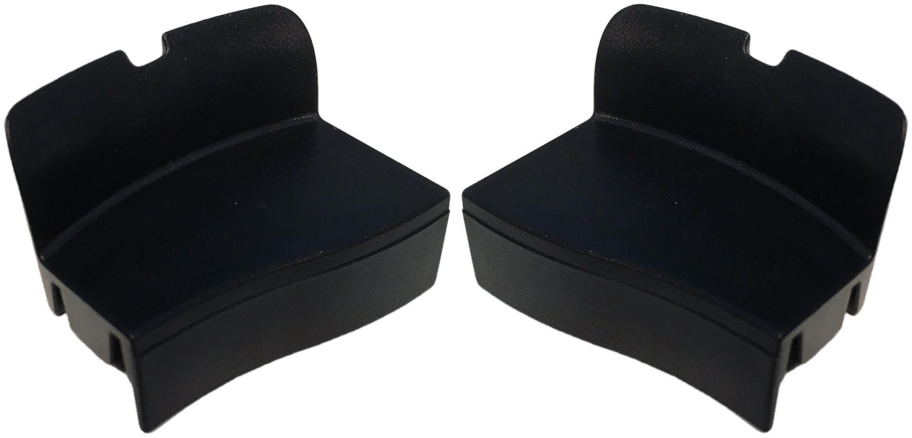 Afdekkapjes Axa Defender - zwart (set)