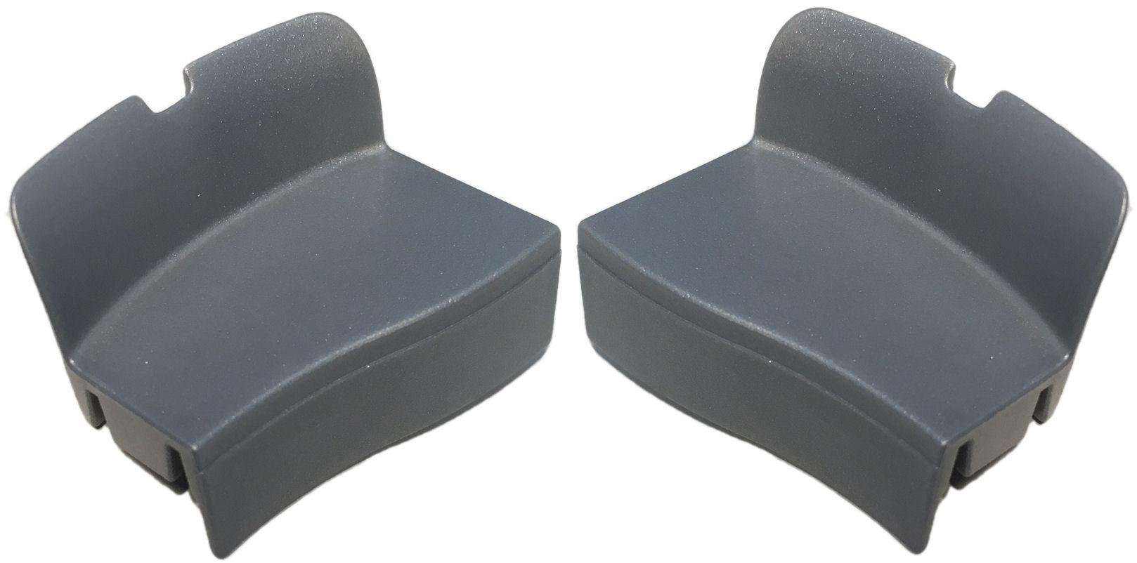 Afdekkapjes Axa Defender - zilver (set)