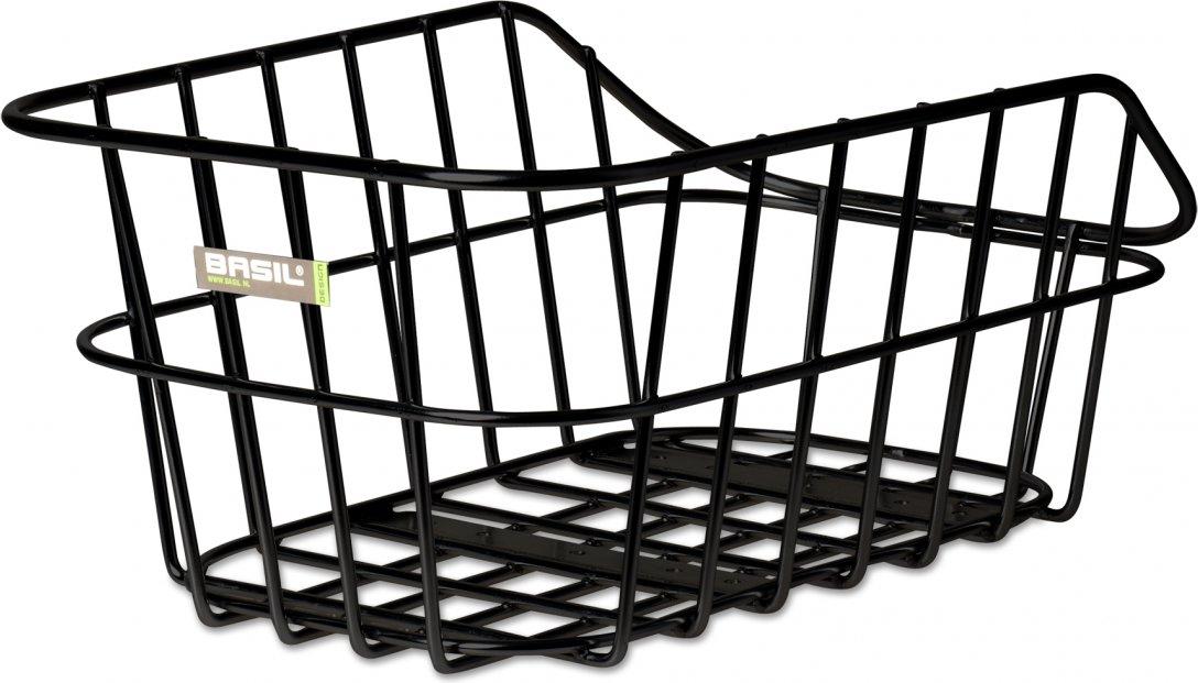 Bagagedragermand Basil Cento aluminium - zwart
