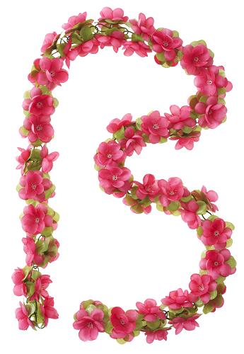 Bloemenstreng Basil Garland  Fuchsia