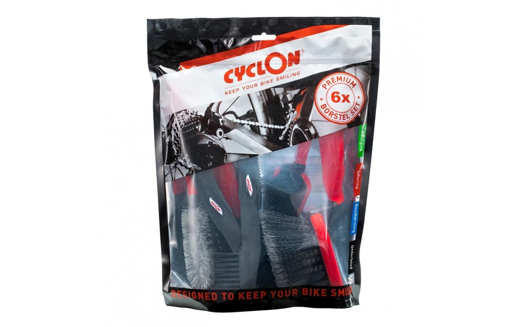CYCLON POETSBORSTELSET 6-DELIG