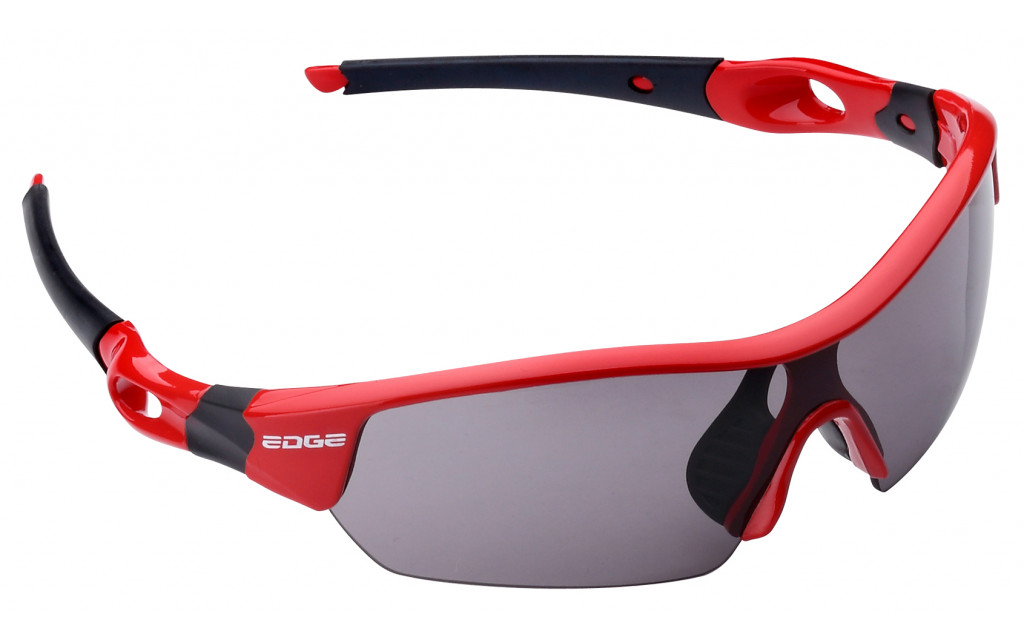 Fietsbril Edge Ventoux met etui en 4 lenzen - rood