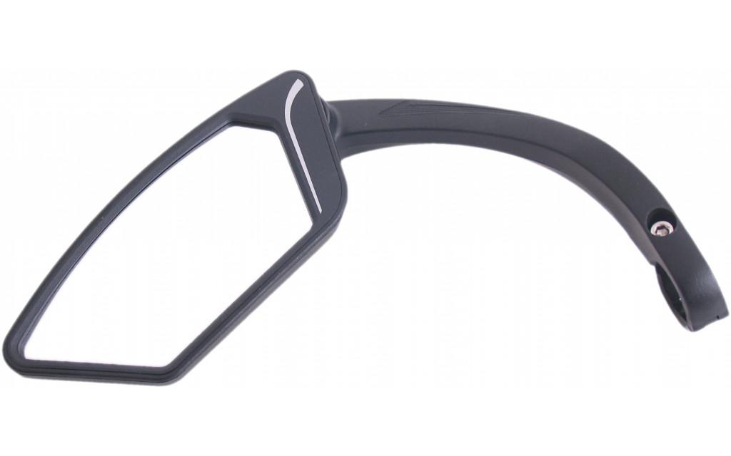 E-bike spiegel links met aluminium stuurklem - zwart