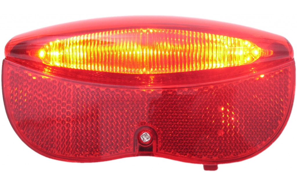 Dragerachterlicht Edge City Luxe - 3 leds inclusief batterijen - 80mm