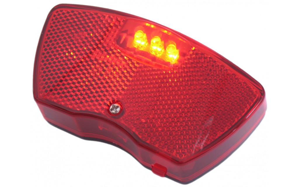 Dragerachterlicht Edge City - 3 leds inclusief batterijen (werkplaatsverpakking)