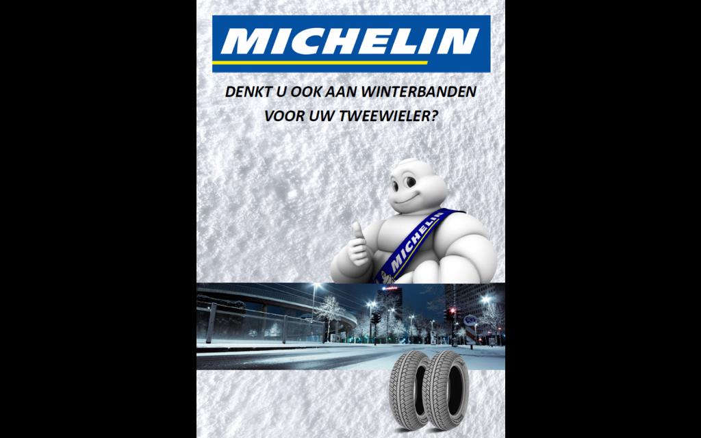 Poster Michelin 'Tweewieler winterbanden' voor A1 stoepbord - NL