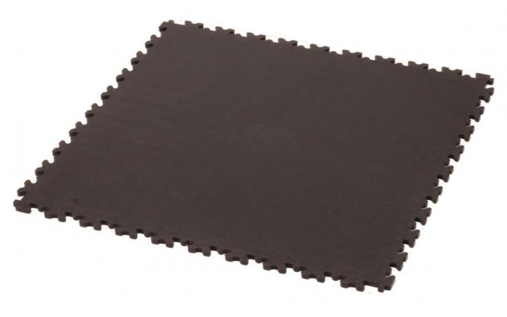 Vloertegel Cyclus 50x50x0.7 cm PVC koppelbaar - zwart
