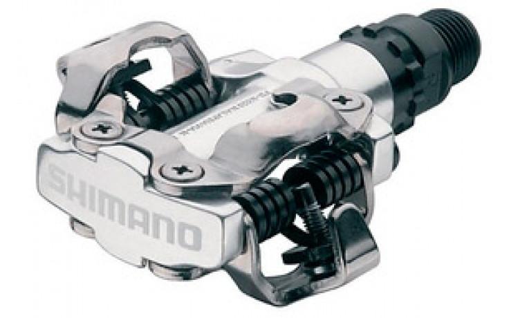 Pedaalset Shimano SPD M520 Met Plaatjes SM-SH51 - zilver