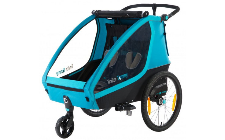 Kinder fietstrailer Mirage Tommy - aluminium frame