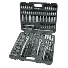 """Tool case Boxo Tools BC031-172 1/4"""", 3/8"""" and 1/2"""" combination set (172 pieces)"""