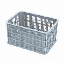 Bicycle crate Basil Crate large 50 liters 50 x 36 x 27 cm - silver cloud