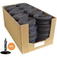 Chambre à Air Edge 28x1/8->3/8 (28/47-622/635) DV40mm Conditionnement Atelier (50 pièces)