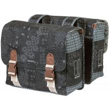 Double sacoche Basil Bohème Carry All 35 litres 37 x 15 x 37 cm - noir
